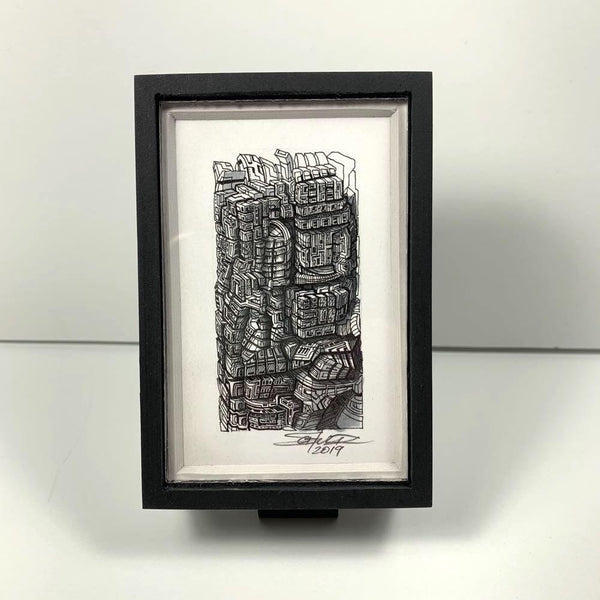 Framed Worldbuilding; Tiny #1 - Original - MJS.ART