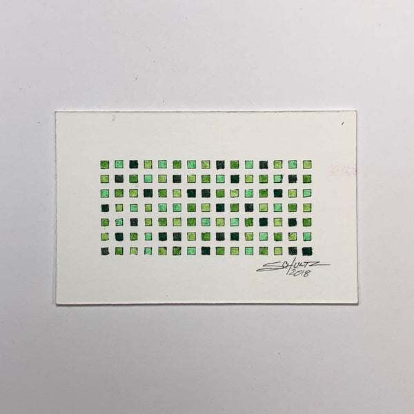 Green Grid Study #1 - Original - MJS.ART