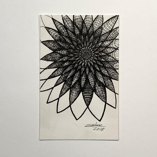 Mesh Flower #2 - Original - MJS.ART
