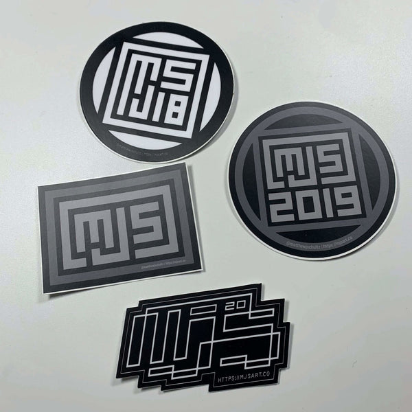 MJS.ART Retired Logo Sticker Pack - MJS.ART