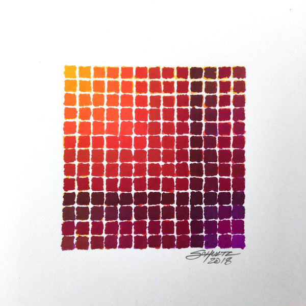 Orange-Red-Purple Spectradient - Original - MJS.ART