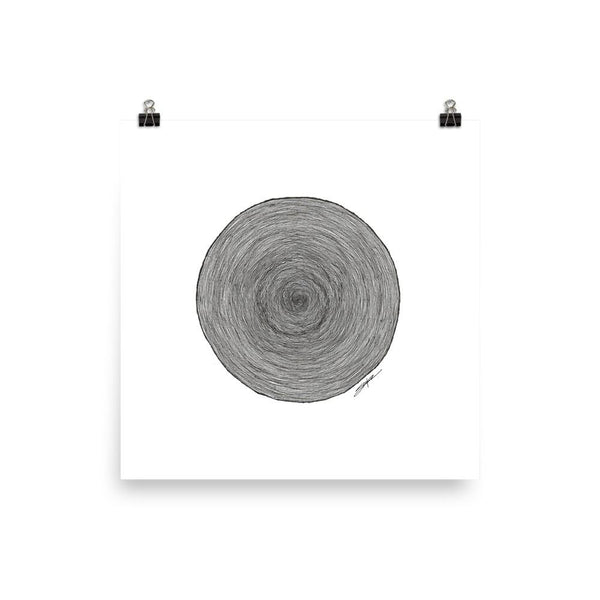 Simple Rings - Poster Print - MJS.ART