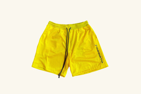 Yellow Mesh Shorts
