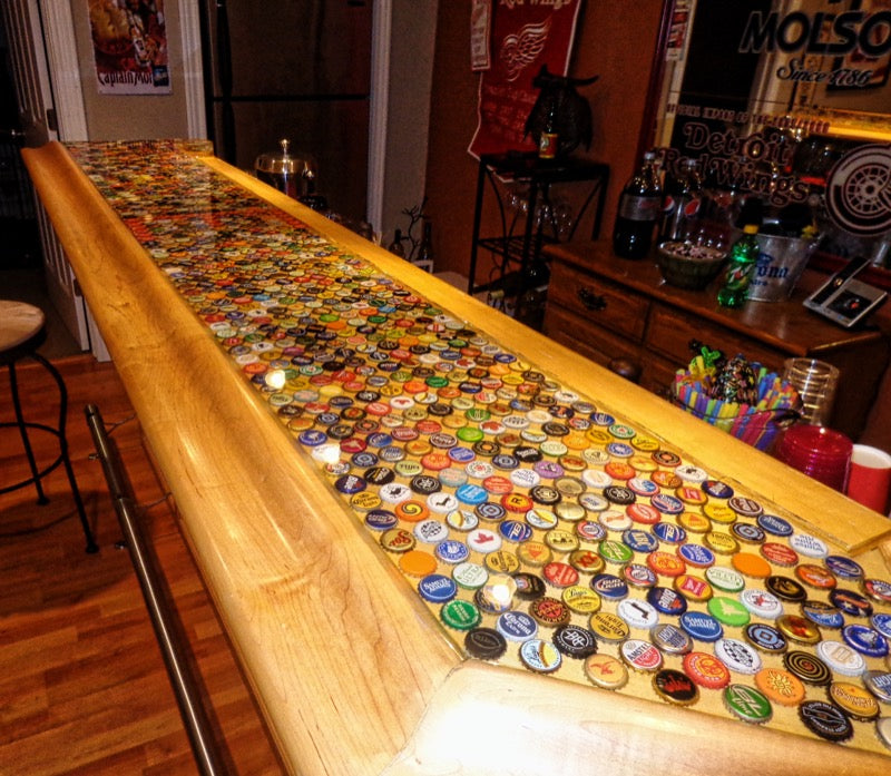 Bottle Cap Bar Finish