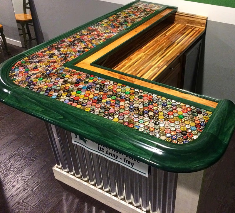 Bottle Cap Epoxy Bar