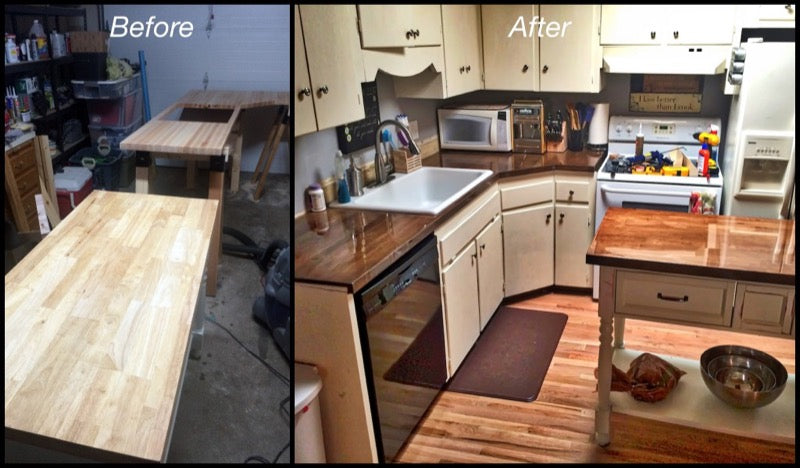 Clear Counter Top Finish