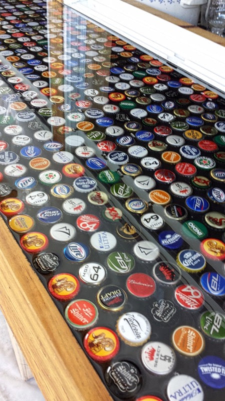 Epoxy Bottle Cap Bar Top