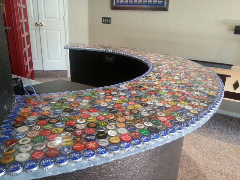 Epoxy Bottle Cap Bar