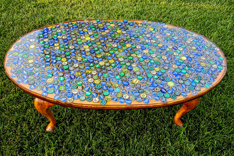 Epoxy Bottle Cap Table