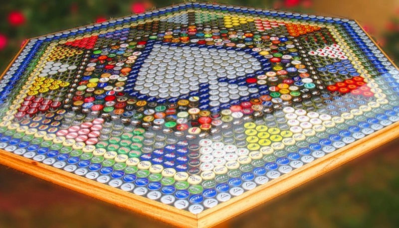 Epoxy Bottlecap Table