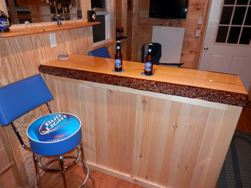Epoxy Live Edge Bar