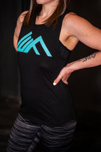 Load image into Gallery viewer, Elevate Fitness, EF Women's Origin Black Muscle Tank Gym Apparel