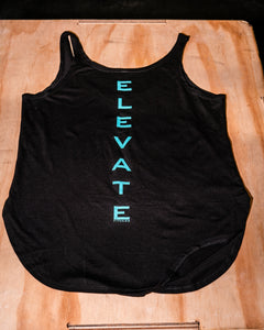 Elevate Fitness, EF Women's Origin Black Casual Tank Back Logo