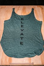 Load image into Gallery viewer, Elevate Fitness, EF Women's Origin Dark Green Casual Tank Back Logo
