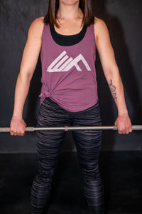 Elevate Fitness, EF Women's Origin Plum Casual Tank Gym Apparel