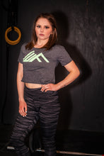 Load image into Gallery viewer, Elevate Fitness, EF Women's Origin Charcoal Crop Tee Gym Apparel
