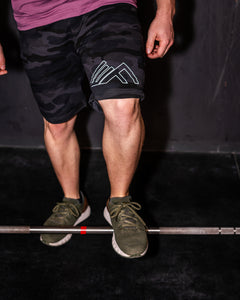 Elevate Fitness, EF Black Camo Shorts Gym Apparel