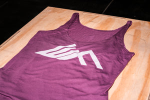 Elevate Fitness, EF Women's Origin Plum Casual Tank Front Logo