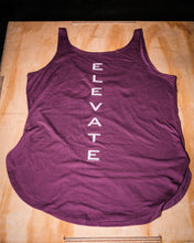 Load image into Gallery viewer, Elevate Fitness, EF Women's Origin Plum Casual Tank Back Logo