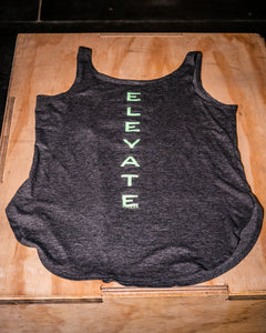 Elevate Fitness, EF Women's Origin Charcoal Casual Tank Back Logo
