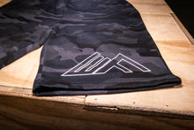 Load image into Gallery viewer, Elevate Fitness, EF Black Camo Shorts Close Up