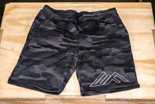 Load image into Gallery viewer, Elevate Fitness, EF Black Camo Shorts Front View