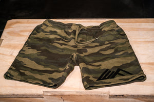 Elevate Fitness, EF Generic Camo Shorts Front View