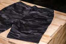 Load image into Gallery viewer, Elevate Fitness, EF Black Camo Shorts Back View