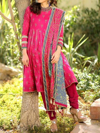 3 PC Unstitched Embroidered Lawn