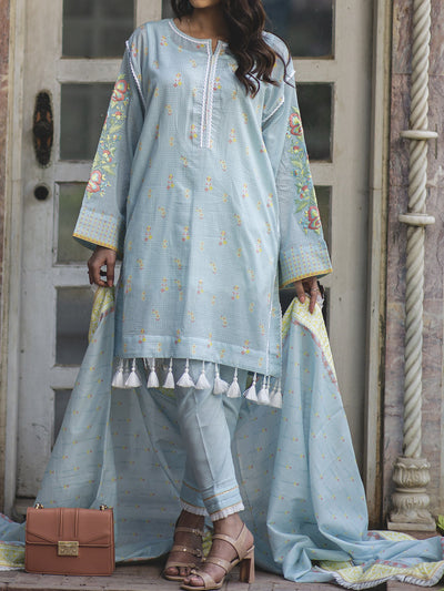 3 PC Unstitched Embroidered Lawn - VL413