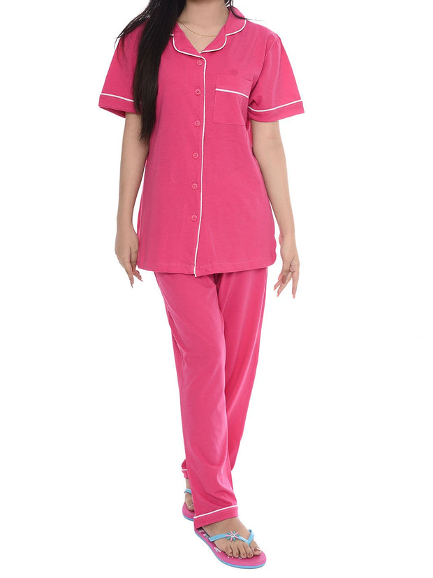 Women Night Suit - Front Open