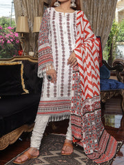 Digital Printed Lawn unstitched suit with Lawn Dupatta