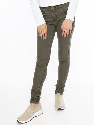 Denim Jeans - Army Green