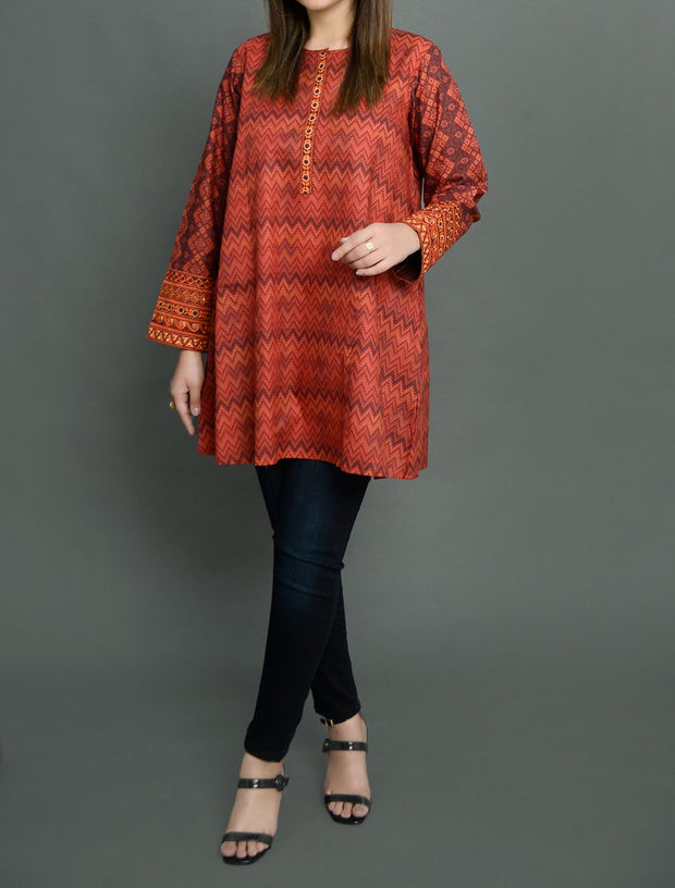 Cambric Cotton Short Kurti