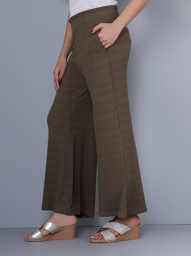 Knitted Army Green Culottes
