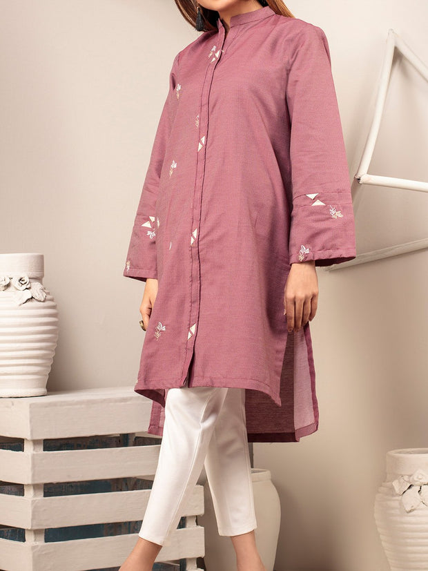 Jacquard Embroidered Kurti