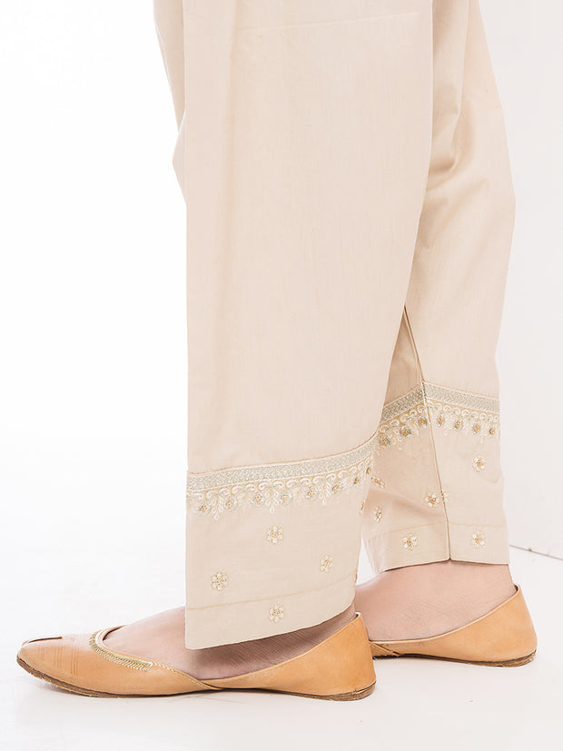Embroidered Shalwar - Skin