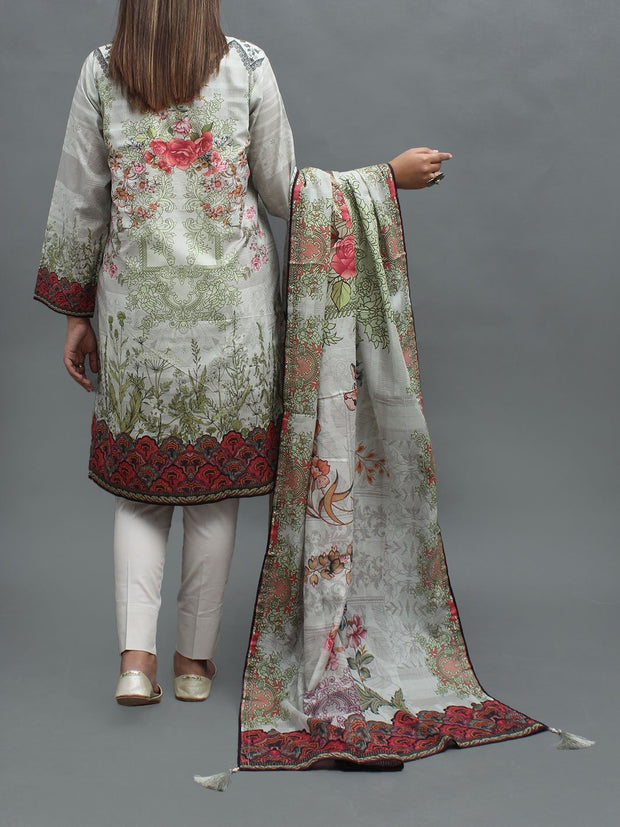 2 PC Lawn- Shirt & Dupatta