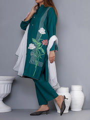 3-Piece Embroidered Suit