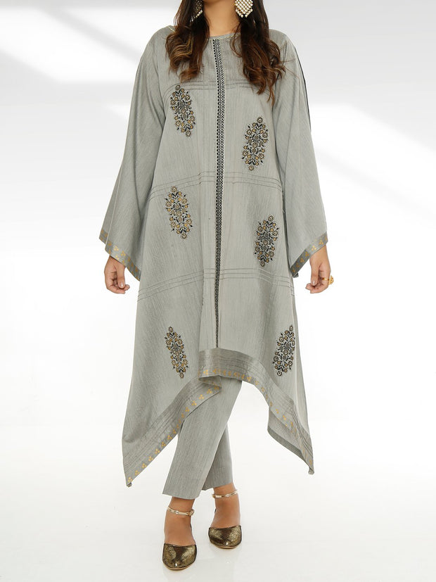 Printed Embellished-2 Piece Shalwar Suit