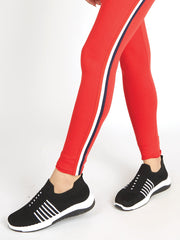 Red Twill Tape Tights