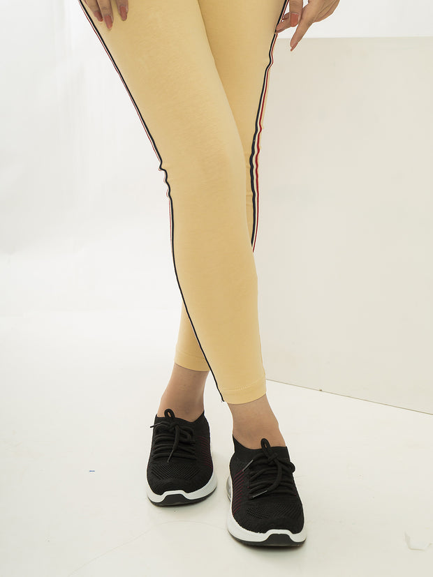 Twill Tape Tights - Skin