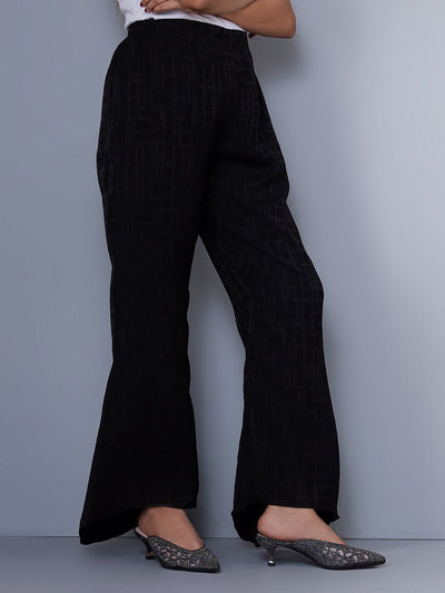 Black Bellbottom Pants