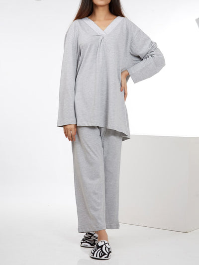 Jalpari Women Night Suit - Heather Grey