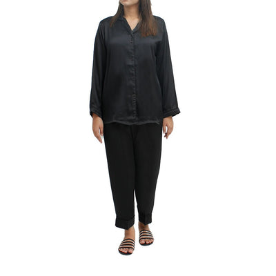 Jalpari Women Night Suit - Black