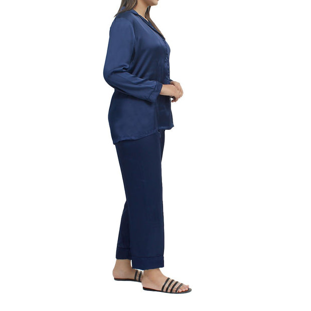 Jalpari Women Night Suit - Navy Blue