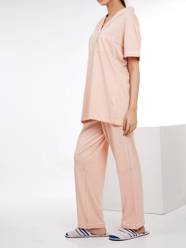 Jalpari Women Night Suit - Tea Pink