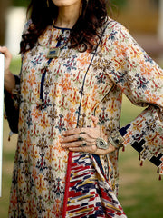 3 PC Unstitched Digital Printed Lawn with Tarkashi Duppata