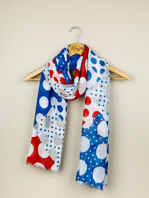 Printed Lawn Stole - Blue