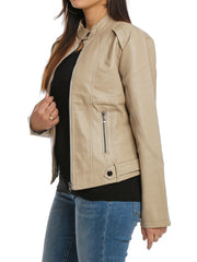 Full Zipper Jacket PU/Leather